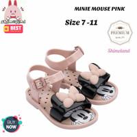 Mini Mellisa Looks Jelly Shoes Minnie Dan Mickey Sepatu Sendal Anak