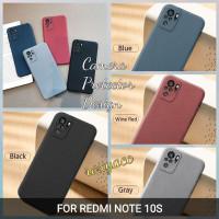 case redmi note 10S softcase anti slip superthin sandstone silicon - Hitam