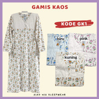 Gamis Kaos Siu Lie / Baju Tidur Long Dress Wanita - GK1, Pink