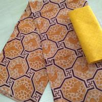 kain batik motif ayam print trusmi cirebon bahan dobby