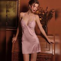 VENUS LEON ~ Daniela Pink Premium Satin Lingerie Baju Tidur Wanita