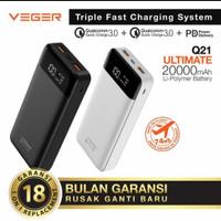 Powerbank Veger Q21 20000mAh led display quick charge 3.0 PD