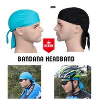 Bandana Kupluk Olahraga Headband Cap Quick Dry Soft Polyester