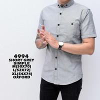 Kemeja Polos Pria Lengan Pendek Hurley Slimfit / Baju Kantor Kerja Am