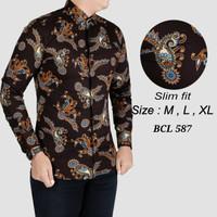 Batik pria, kemeja slimfit pria,baju batik lengan panjang BCL 191