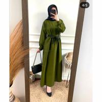 Baju dress gamis wanita terbaru   gamis Shasa