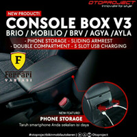 Console Box Arm Rest Brio 2018 / BRV / Mobilio V3 with USB Otoproject
