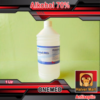 Alkohol 70% 1 Liter ONEMED   Alkohol Antiseptik 1Liter   Alcohol 1Ltr