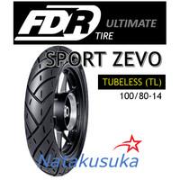 Ban Luar FDR Sport Zevo Tubeless (TL) 100/80 - 14