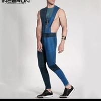 baju jumpsuit pria / fashion overall bodysuit sexy