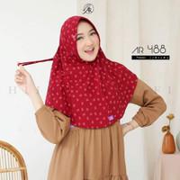 jilbab hijab kerudung bergo instan motif terbaru serut arrafi AR 488