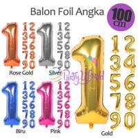 PartyWorld balon foil angka 100cm - GOLD, 1