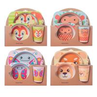 Bamboo Fiber Kids Feeding Set / Peralatan Makan Bayi-anak anak-YS24