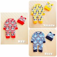 baju bayi jumper laki laki usia 3-18 bulan motif
