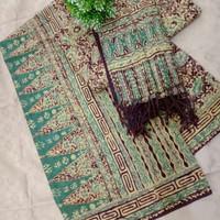kain batik cap tulis sarimbit keluarga bahan dobby cirebon