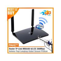 Paket Router Modem TPLINK MR6400 4G LTE WIFI Hotspot & Antena Yagi Gri