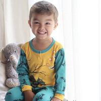 Kazel Piyama Boy Ukuran besar 0-5 tahun 3 setel baju tidur anak laki