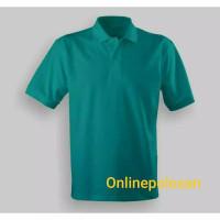 Kaos Polo Shirt Lengan Pendek Kerah warna Hijau TOSCA