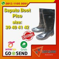 Sepatu Boot PICCO Hitam Anti air Murah - 39