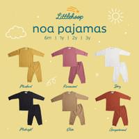 LITTLEHOOP Noa Pajamas Reeb Rib Knit Baju Tidur Anak Bayi