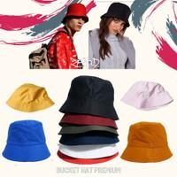 Topi Bucket Hat Polos Custom Hype Pria Wanita Outdoor Premium