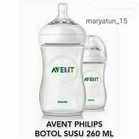 avent philips natural bottle 260ml - botol susu bayi - 1 botol white