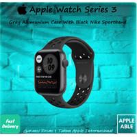 Apple Watch Series 3 38MM/42MM GPS Alum W/ Black Nike+ Sport Band - 38MM, GRAY-BLACK