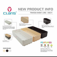 Claris Travessa Long Keranjang anyaman rotan plastik - 0563 - crem