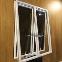 Jendela Aluminium L100 x T100 (2 daun)