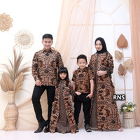 Seragam Baju Batik Sogan Sarimbit Couple Keluarga Ayah Ibu Anak Modern