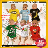 Baju Jumper Karakter Lucu Bayi Laki-laki Baru Lahir Unik 0-6 Bulan