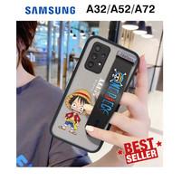 Case Samsung A32 A52 A72 Gambar One Piece Cartoon Anime AERO Bumper