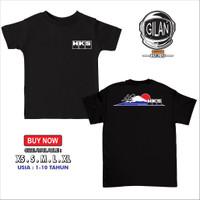 Kaos Baju Anak HKS FUJIYAMA MOUNTAIN JDM Racing Kaos Anak Otomotif - v1 Hitam, XS