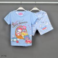 Baju Tidur Setelan Pendek Pendek Sanrio P-756 / H size 8-10-12