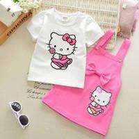 KD ST LOLLY baju anak perempuan set overall anak umur 3-6 tahun