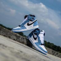 Sepatu NIKE AIR JORDAN 1 high University Blue Black