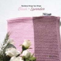 RAZHA Inner Hijab Bandana Rajut Two Tone Anti Pusing TERLARIS - Blush Lavender