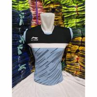 kaos badminton baju bulutangkis kaos olahraga singlet pria wanita - Telur Asin, M