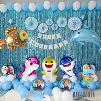 SET Foil Balloon Premium Baby Shark / Dekorasi Balon Ulang Tahun