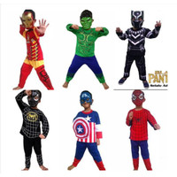 Kostum baju anak SUPERHERO IRON MAN SPIDERMAN HULK BLACK PANTHER