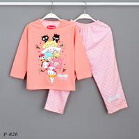 Baju Tidur Setelan Panjang Panjang Sanrio P-826 / PTP size 14-16-18