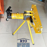 (RTO)Alat tekuk pipa besi 1/2-4 alat pembengkok hydroulic pipe bander