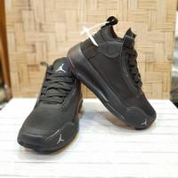 Sepatu Anak Nike Air Jordan import Full black, Size 31-36