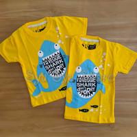 Baju Kaos Atasan Anak Laki Laki Ikan Hiu Baby Veggie Shark Kuning