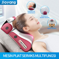 Pijat bantal pijat listrik portabel bantal pijat leher dan bahu - Putih