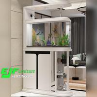 partisi penyekat ruangan minimalis modern terbaru dengan aquarium