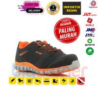 Sepatu Safety Jogger Ligero Orange / Sepatu Proyek Pria Ringan Keren