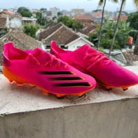 Sepatu Bola Adidas X Ghosted.1 Pink Black