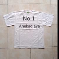 Baju kaos oblong/baju atasan anak warna putih polos/baju harian unisex - No. 2