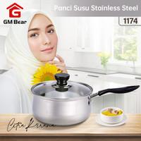 GM Bear Panci Stainless Steel 1174-Milk Pan - 16 cm